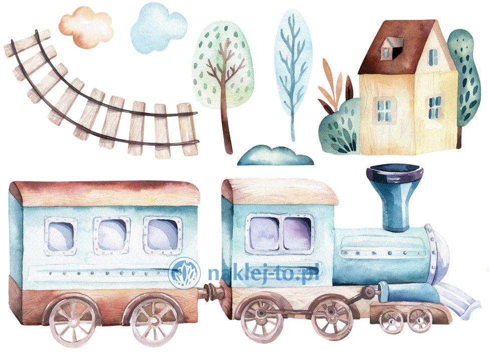 naklejka kolorowa pociąg naklejka na ścianę