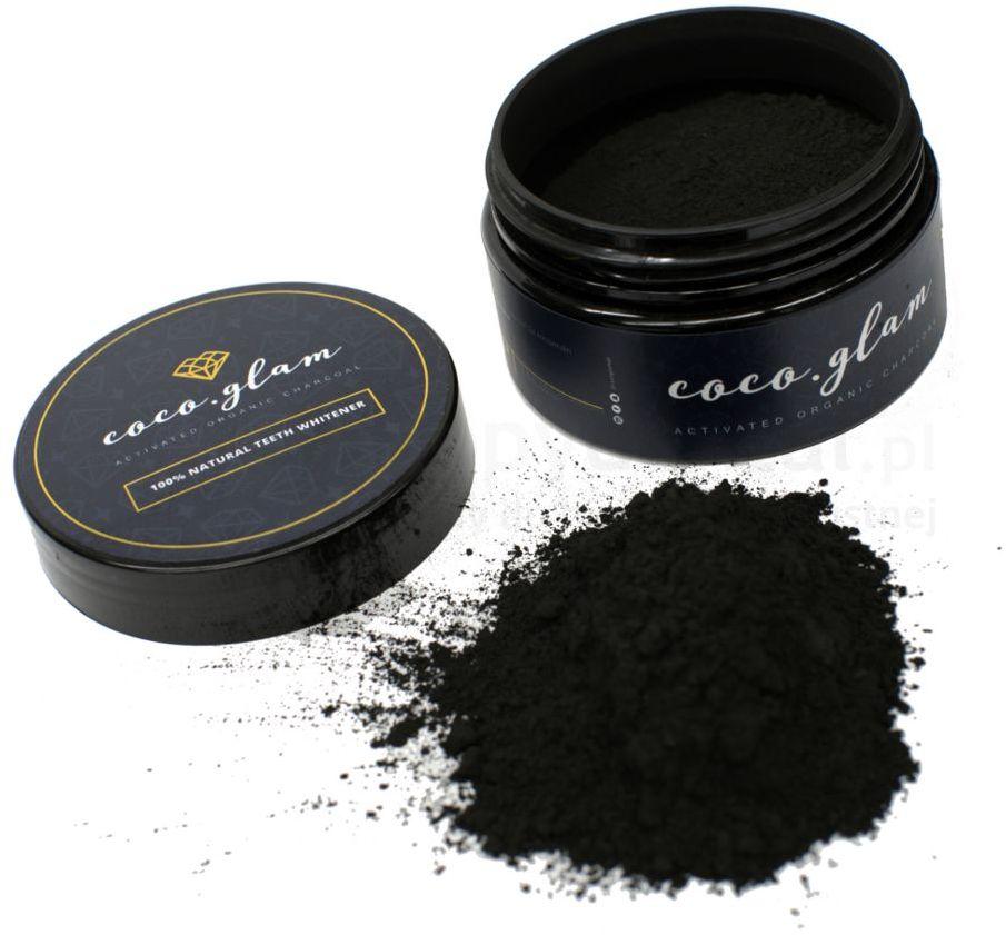 COCO GLAM proszek wybielający w 100% naturalny środkiem usuwający przebarwienia na bazie aktywnego węgla z drzewa kokosowego