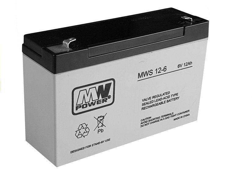Akumulator żelowy do auta na akumulator 6V12Ah
