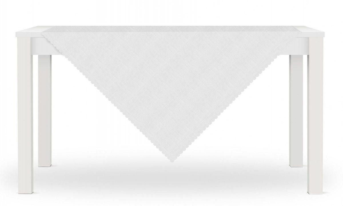 Obrus LORA 80x80 Biały Len