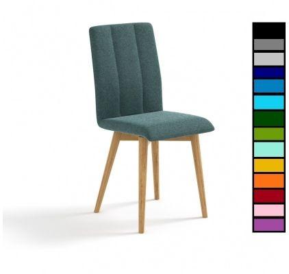 Eleganckie dębowe krzesło tapicerowane