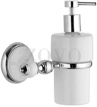 EPOCA pojemnik na mydło,montaż ścienny, chrom i biała porcelana,. Akcesoria łazienkowe retro RE-EP13