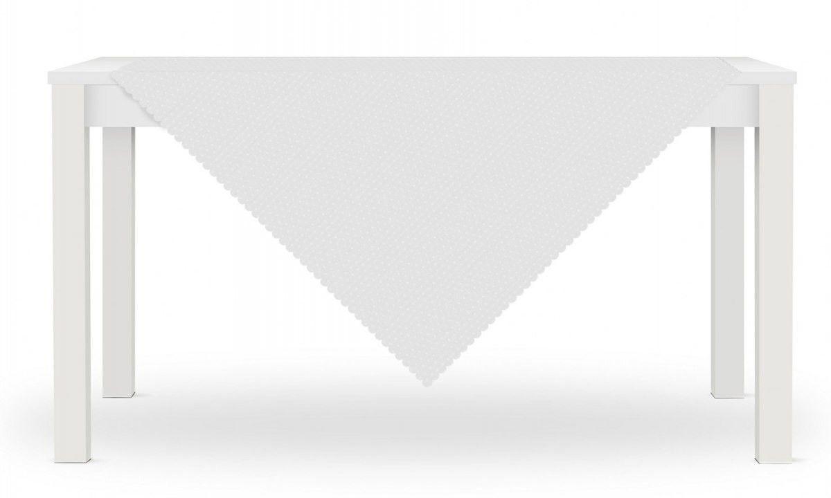 Obrus LORA 80x80 Biały Kropki
