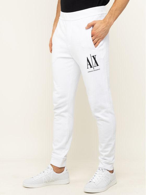 Armani Exchange Spodnie dresowe 8NZPPA ZJ1ZZ 1100 Biały Regular Fit