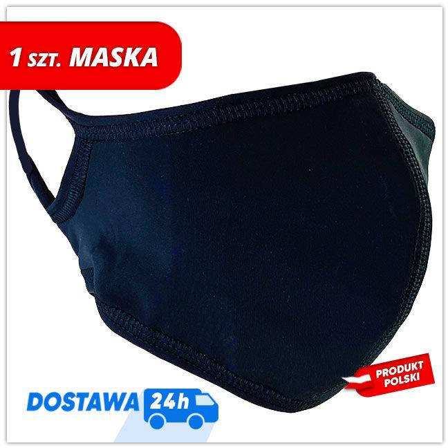 Maseczka MASKK Black Poli