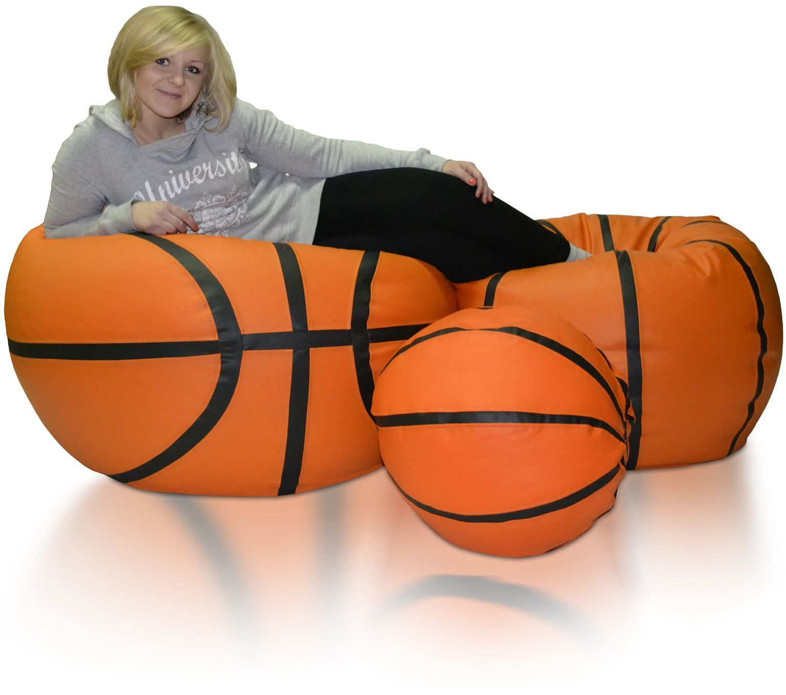 Piłki Basketball zestaw XXXL+XXL+L Polskie Pufy