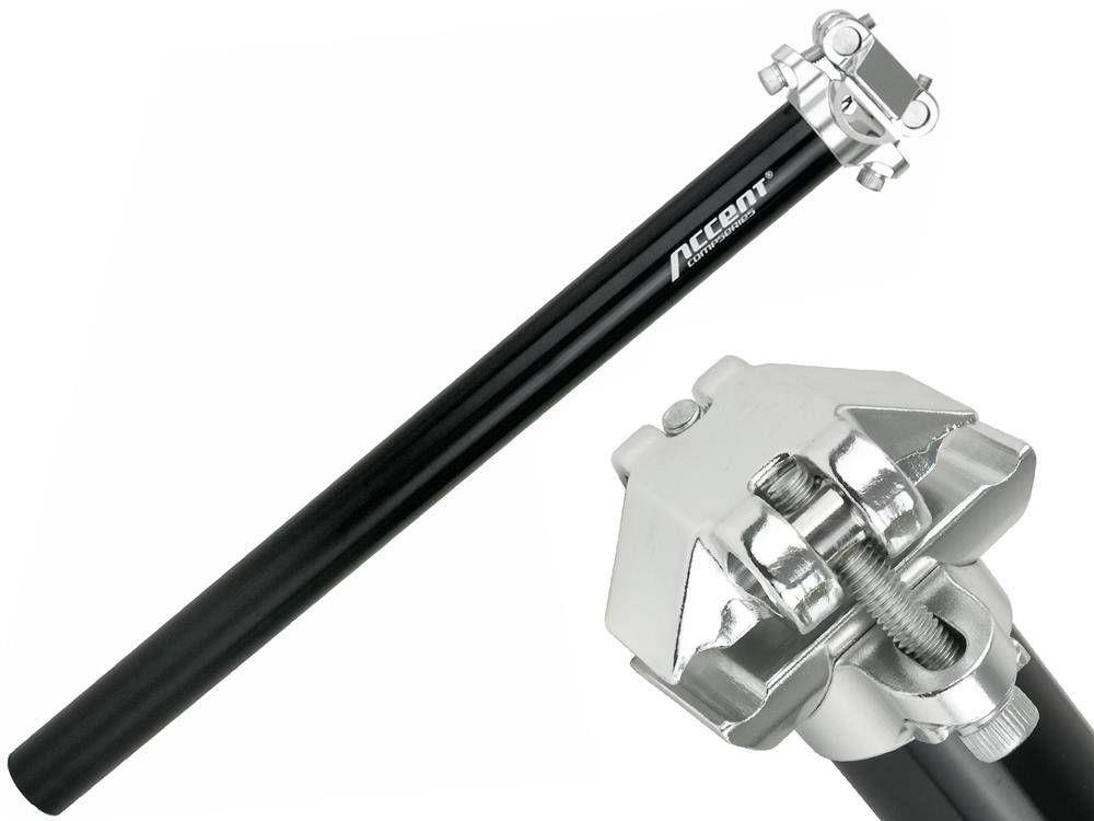 Wspornik siodła Accent SP-408 30,4 mm, czarny
