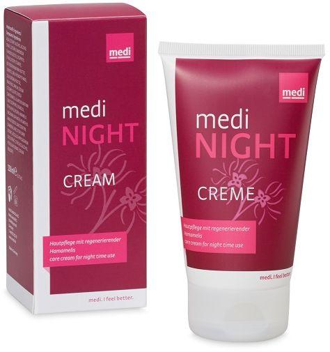 Odżywczy krem na noc wspomagający regenerację skóry po kompresjoterapii - głębokie nawilżenie, łagodzenie podrażnień (Medi Night Cream)