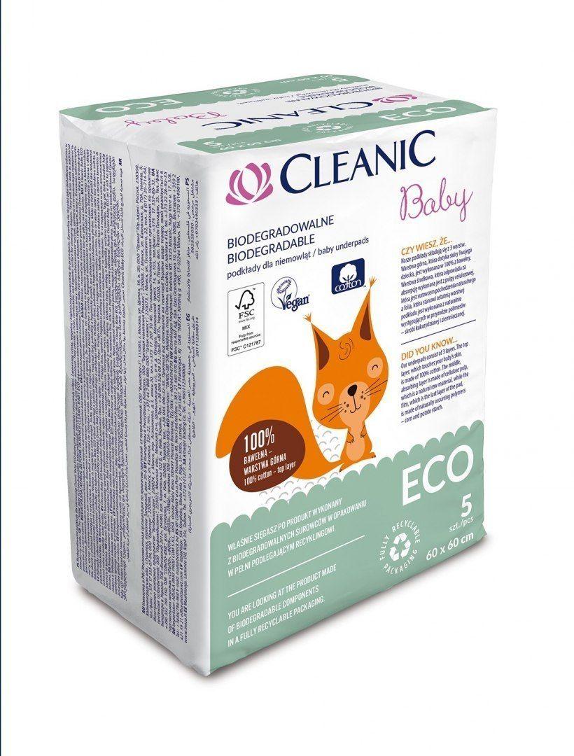 HARPER Cleanic Baby Eco Podkłady jednorazowe dla niemowląt - biodegradowalne 1op.-5szt