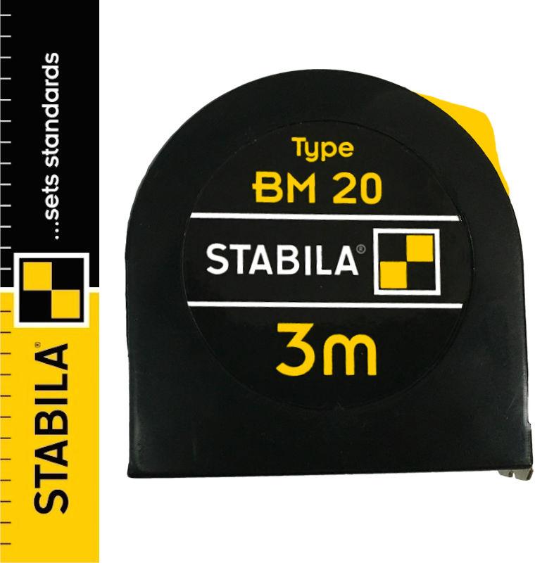 Miara zwijana stalowa z blokadą 3m BM20 STABILA