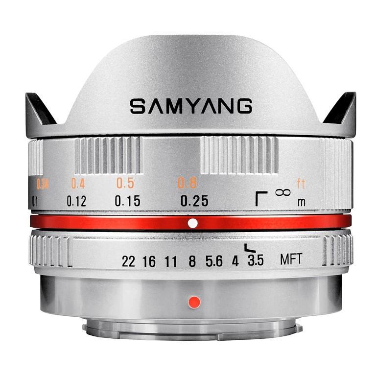 Obiektyw Samyang 7.5mm F3.5 UMC Fish-eye Micro 4/3 Srebrny