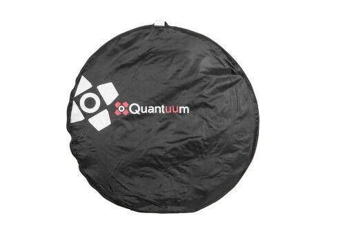 Quantuum Blenda srebrno-biała 91x122cm