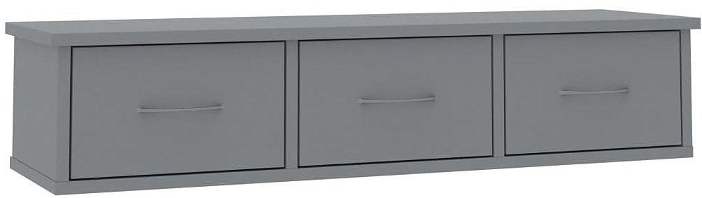 Półka ścienna z szufladami Toss 3X - szara