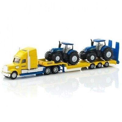 Ciężarówka z traktorami New Holland - Siku