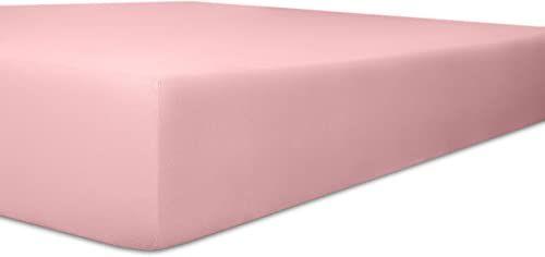Kneer 6073655 Single Jersey prześcieradło dziecięce z gumką jakość 60, 35 x 78 cm - 40 x 90 cm, różowe