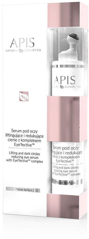 Serum Roll-on pod oczy liftingujące i redukujące cienie Apis z kompleksem Eyefective