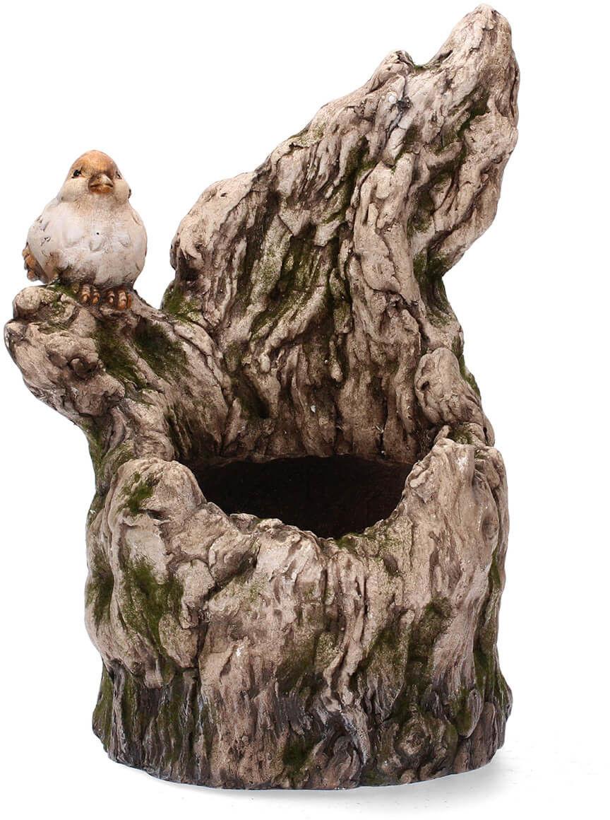 Figurka doniczka ptaszek na drzewie 39cm
