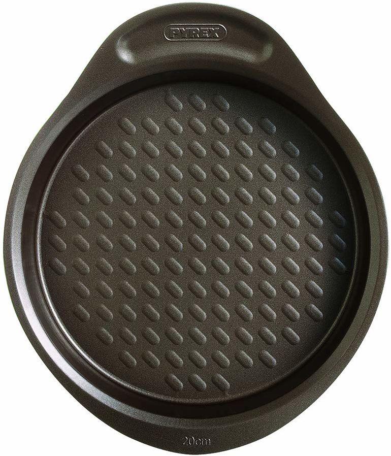 Pyrex asimetriA metalowa łatwa w trzymaniu patelnia do ciasta 20 cm, brązowa, 1