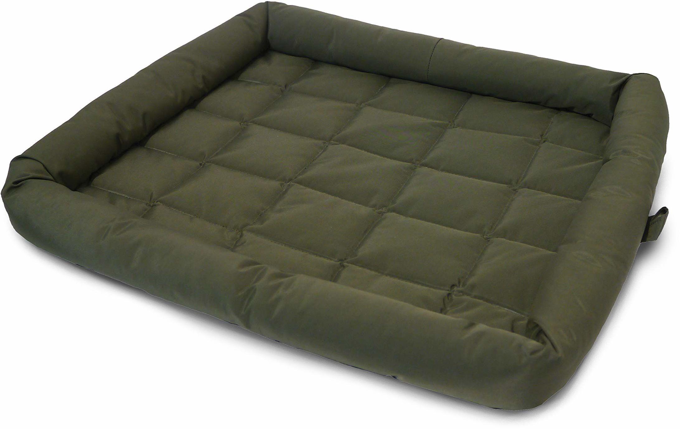 Palisander wodoodporny materac klatki dla psów, zmywalny pikowany materac dla psów, średni zielony materac klatki 22 x 30 cali (56 x 76 cm)