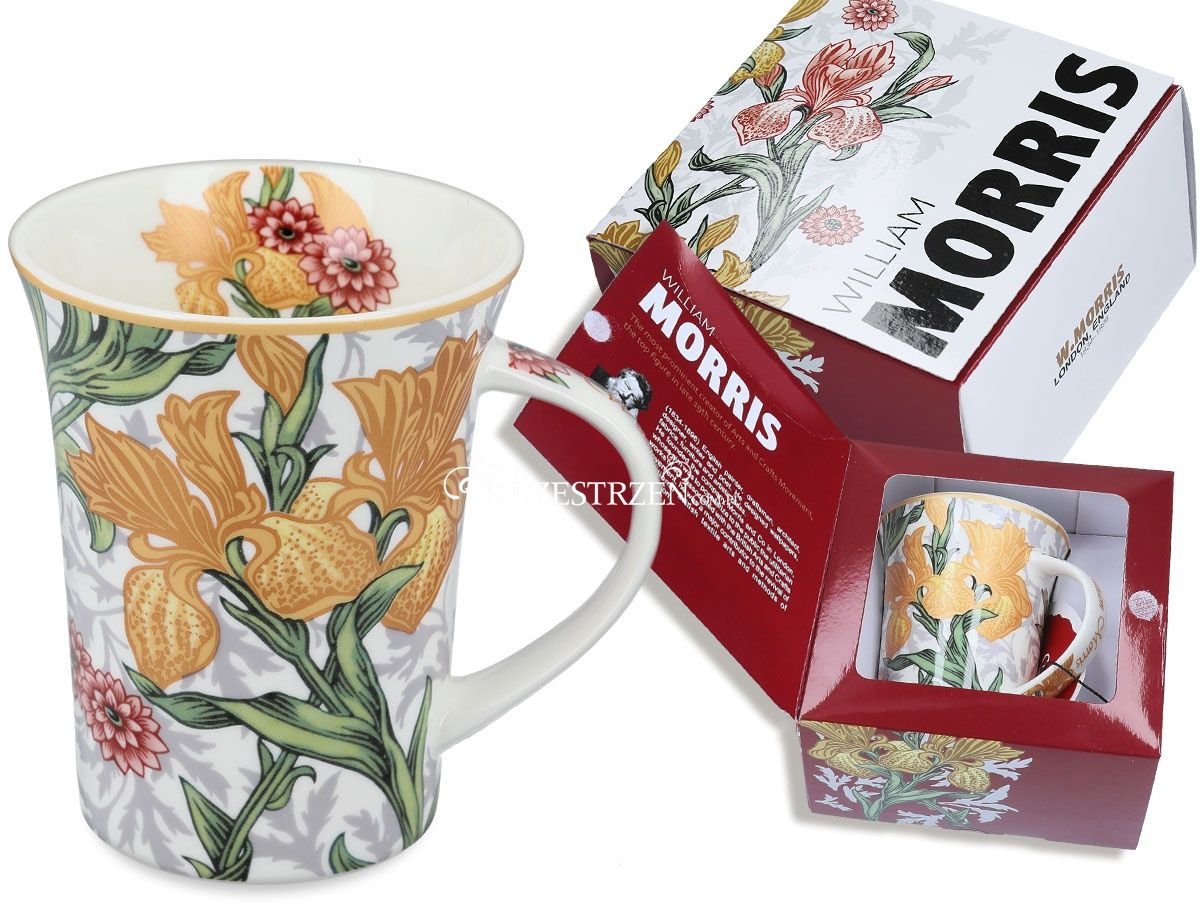 KUBEK PORCELANOWY CARMANI Kwiaty II bright - by William Morris