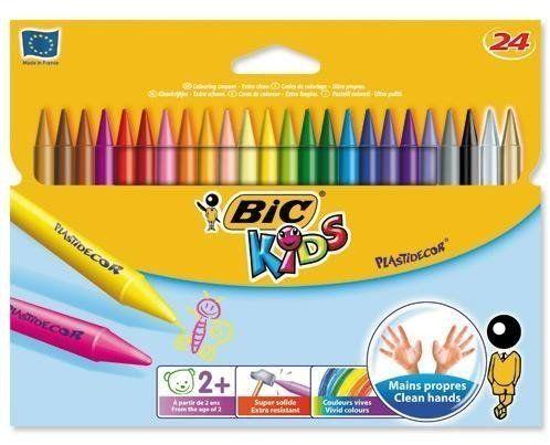 Kredki Plastidecor KIDS 24 kolorów BIC