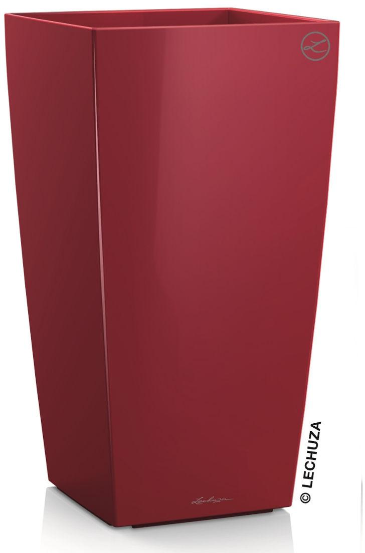 Donica Lechuza CUBICO Premium 22/22/41 czerwony scarlet połysk