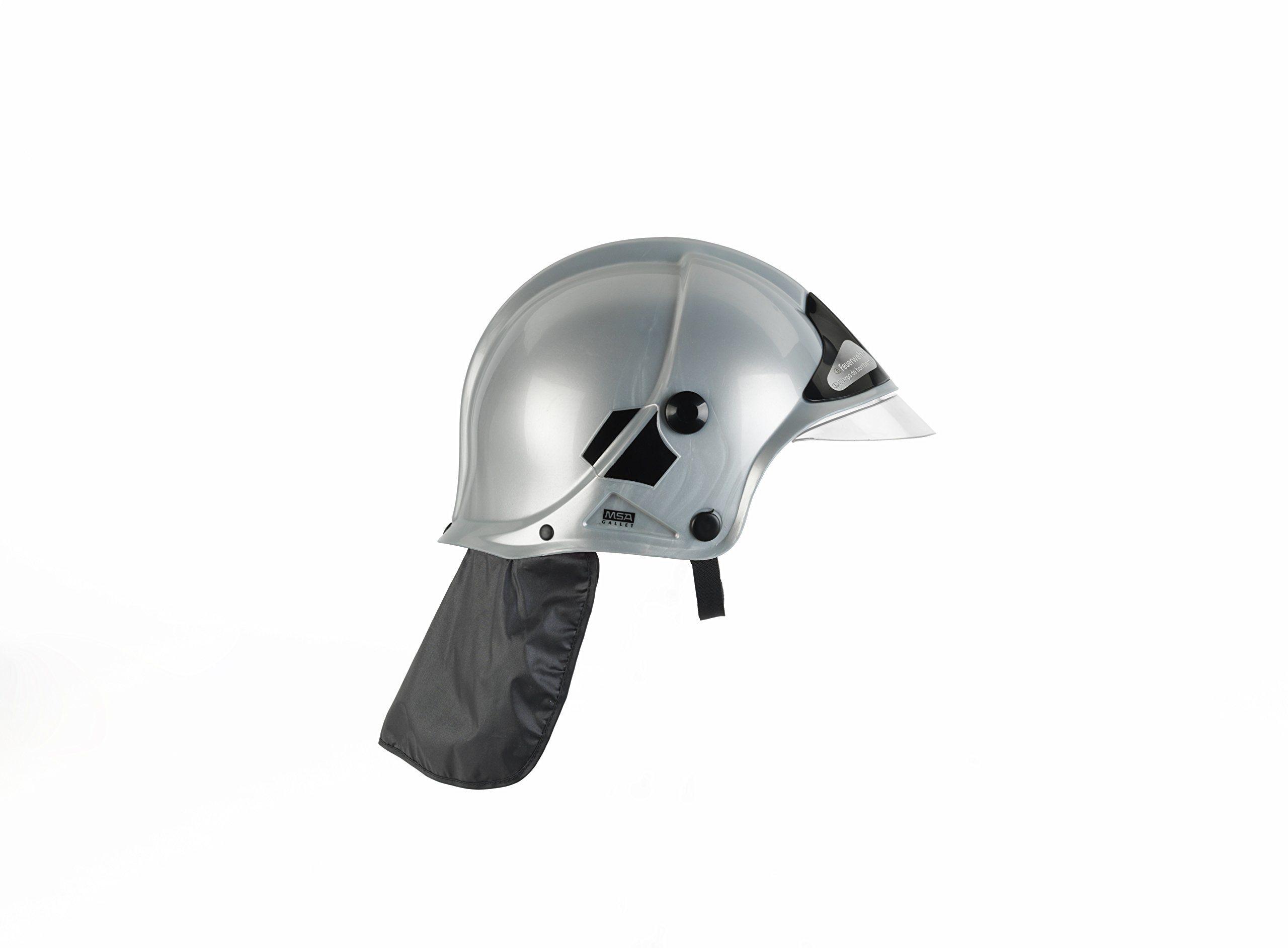 Theo Klein 8902  kask strażacki z wizjerem, gra, srebrny