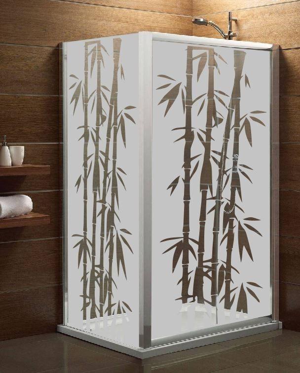 Maskująca naklejka mrożone szkło: Bambusy