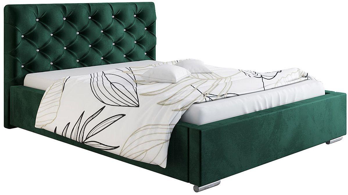 Jednoosobowe łóżko tapicerowane 90x200 Loran 3X - 48 kolorów