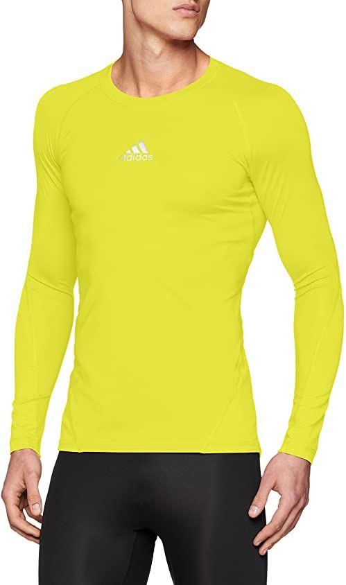 adidas Alphaskin LS Tee Shirt, solar Yellow, 4XL