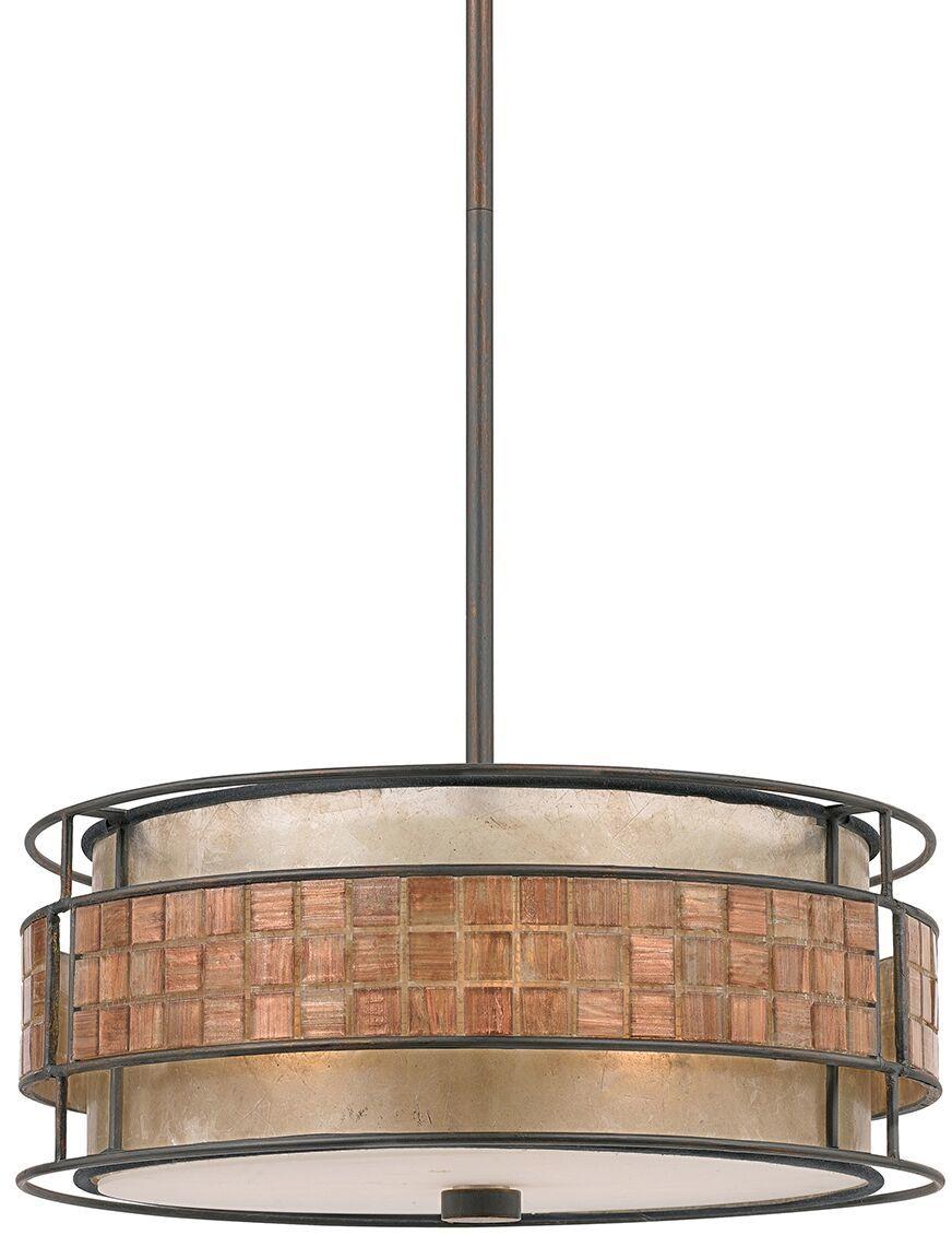 Lampa wisząca Laguna QZ/LAGUNA/P Quoizel dekoracyjna oprawa w kolorze miedzi