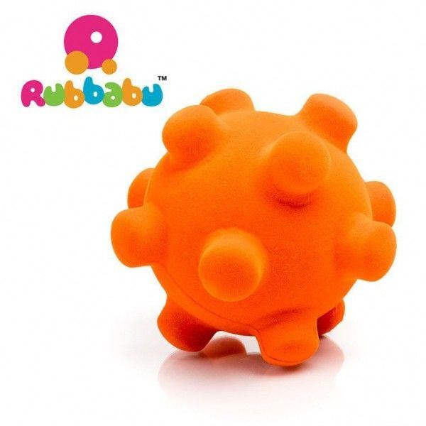 Rubbabu - Sensoryczna Piłeczka z Mocną Fakturą Piłka Pomarańczowa