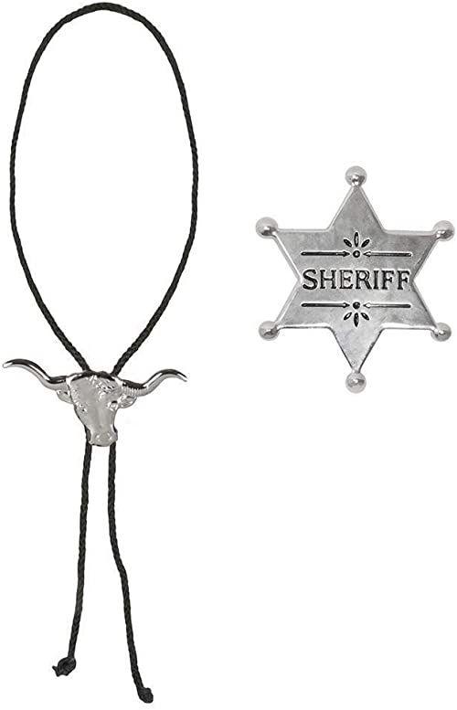 Boland 54316  zestaw kostiumowy kowbojski, łańcuszek i gwiazda szeryfa