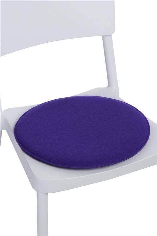 Intensi okrągła fioletowa poduszka na krzesło