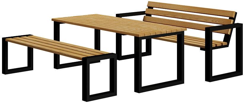 Komplet mebli ogrodowych 180 - Norin 3X