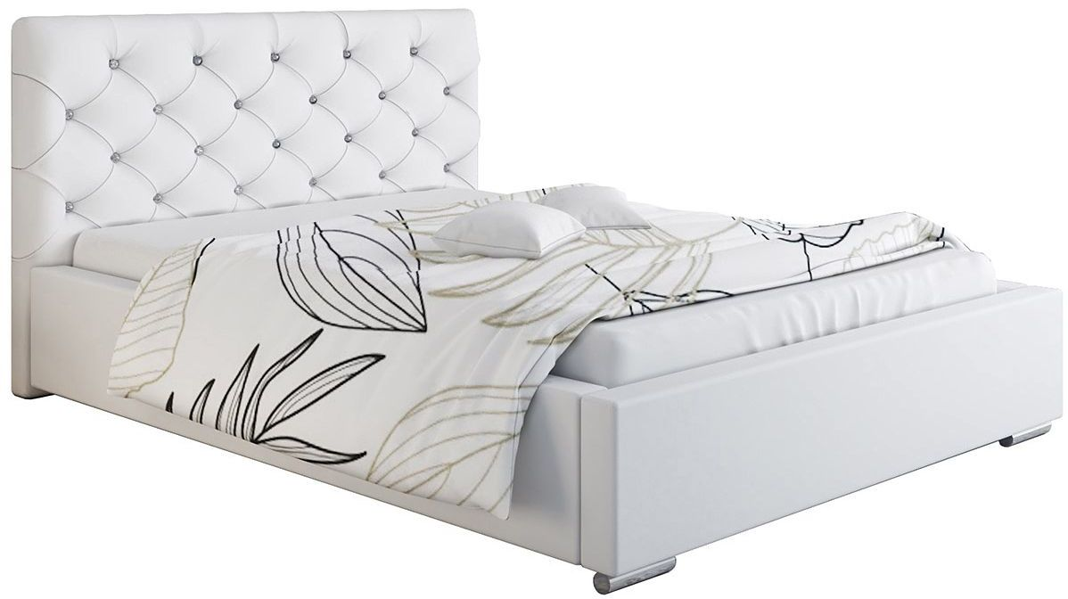Tapicerowane łóżko z zagłówkiem 120x200 Loran 3X - 48 kolorów