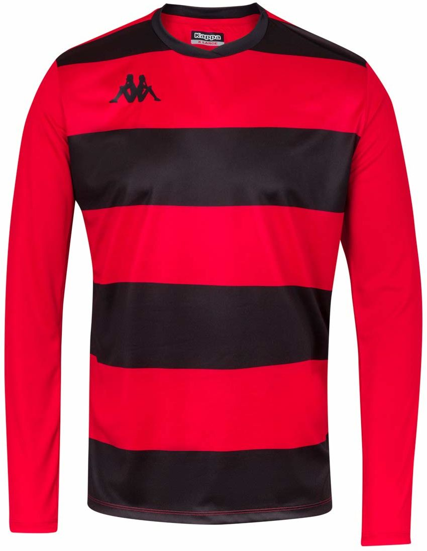 Kappa Casernhor LS koszulka piłkarska z długimi rękawami, męska XXL czarna/czerwona