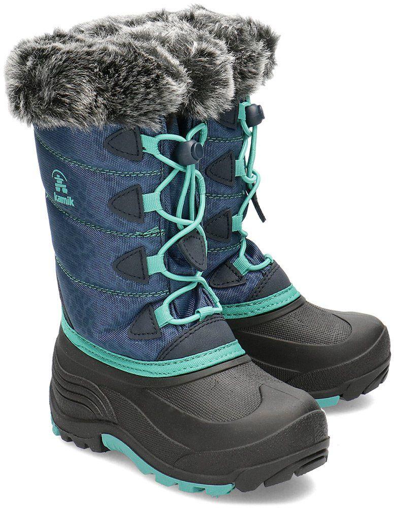 Kamik Snowgypsy3 - Śniegowce Dziecięce - NF8139C NAV - Niebieski