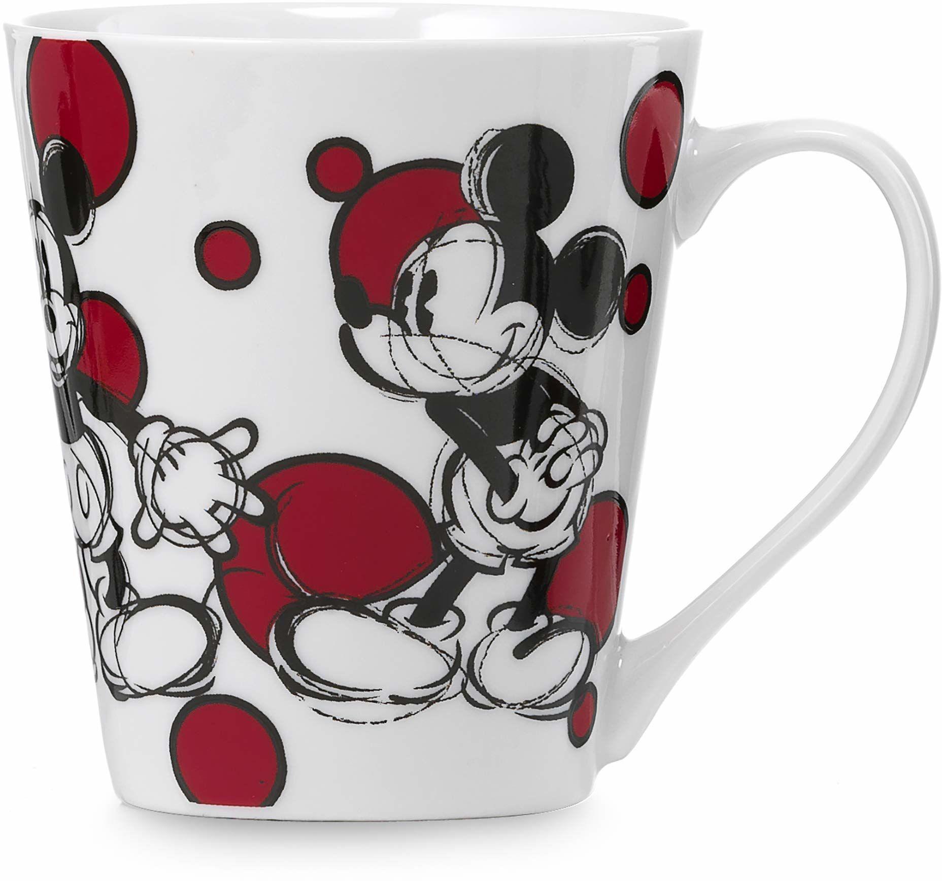 Disney Kubek z motywem Myszki Miki, porcelana, Mickey z kropkami