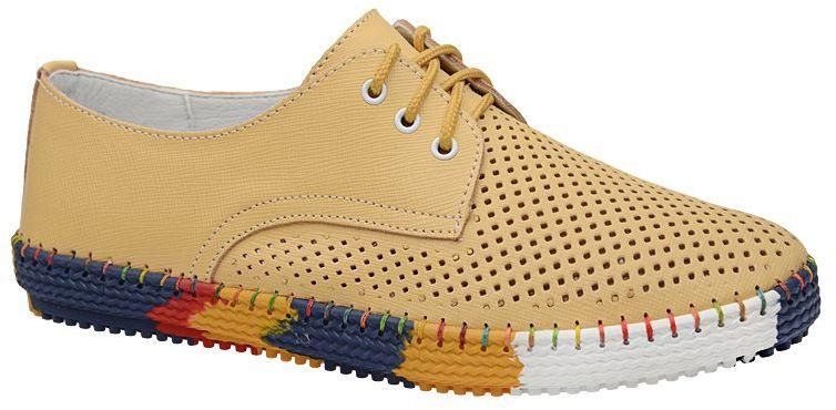 Komfortowe Półbuty ARTIKER 46C1639 Żółte Piaskowe Sneakersy
