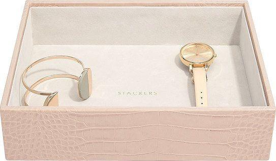 Szkatułka na biżuterię stackers croc open classic różowa