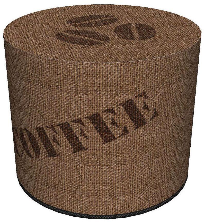 Okrągła pufa tapicerowana 16 wzorów - Adelos 6X