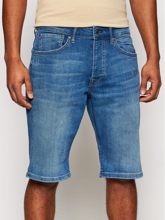 Pepe Jeans Szorty jeansowe Callen PM800707 Granatowy Relaxed Fit