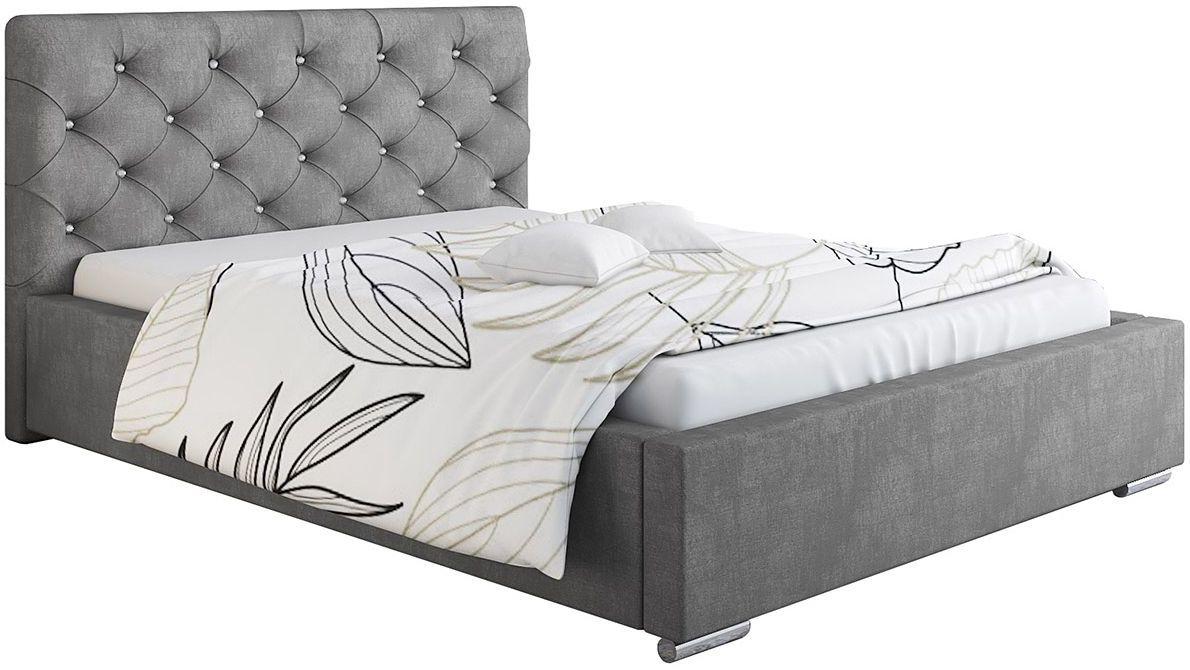 Pikowane łóżko z pojemnikiem 160x200 Loran 2X - 48 kolorów