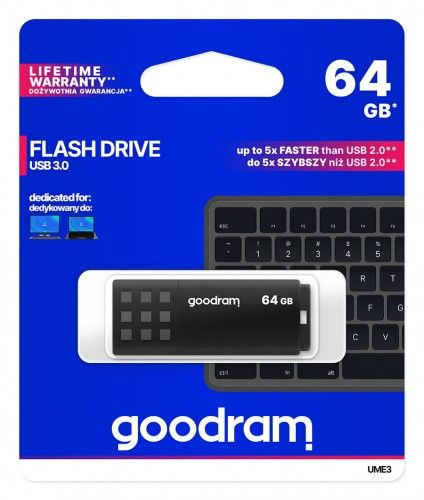 Pendrive goodram UME3 64gb czarny 3,0