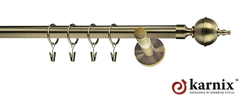Karnisze nowoczesne NEO pojedynczy 19mm Roxy antyk mosiądz