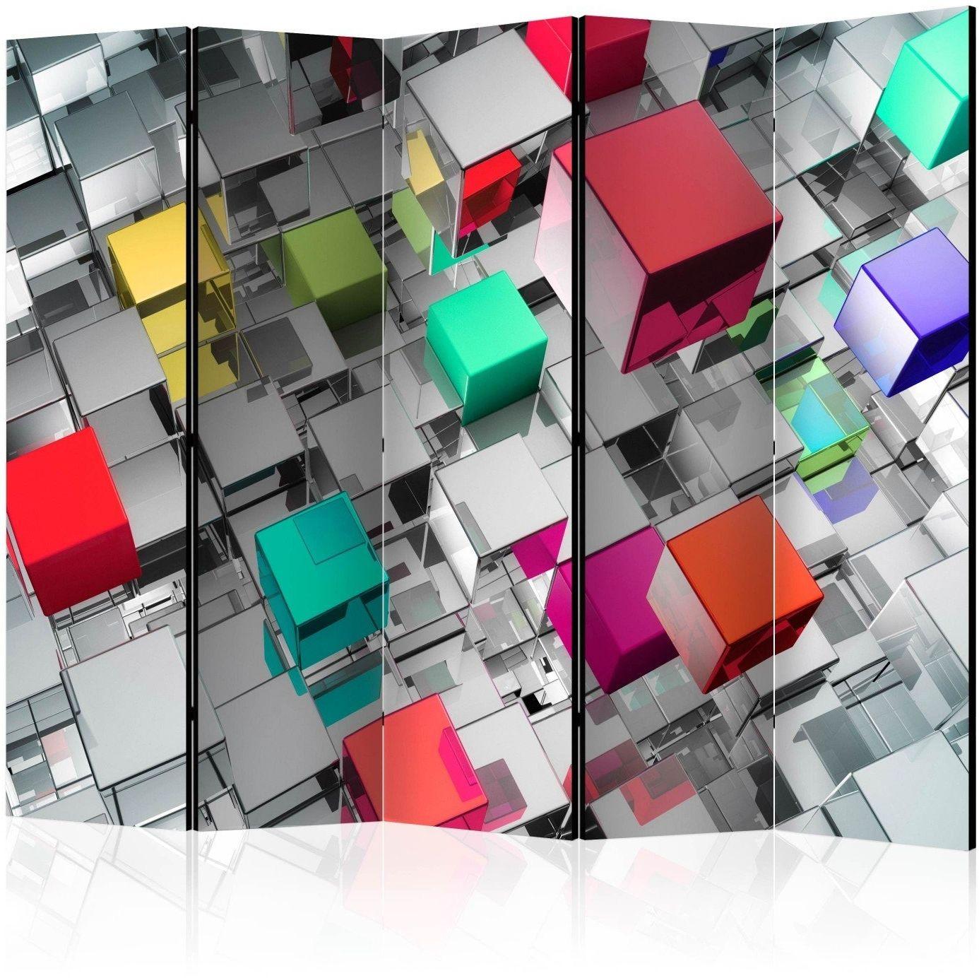 Parawan 5-częściowy - kolory metalu ii [room dividers]
