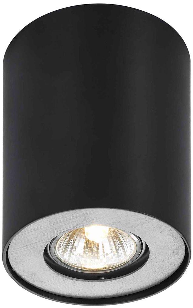 Italux plafon oprawa oświetleniowa Noma CL-110GU10-BL czarna 10,3cm