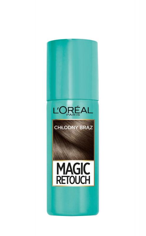 L''Oréal - MAGIC RETOUCH - Spray do błyskawicznego retuszu odrostów - CHŁODNY BRĄZ