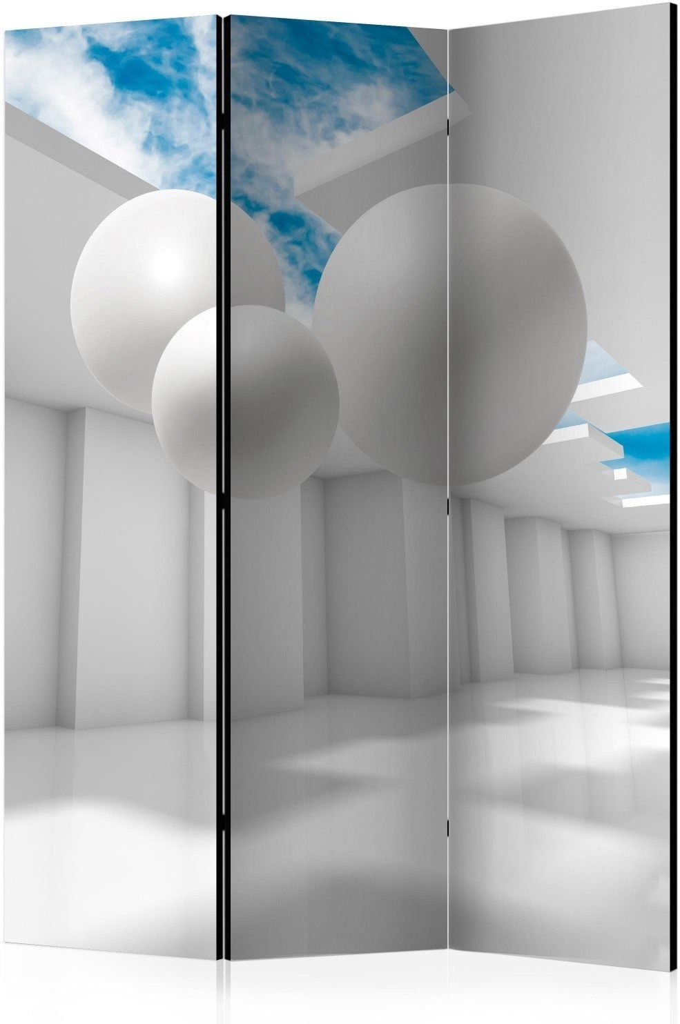 Parawan 3-częściowy - architektura przyszłości [room dividers]